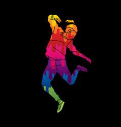A man dancing action vector