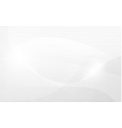 abstract curved lines white and gray color vector image
