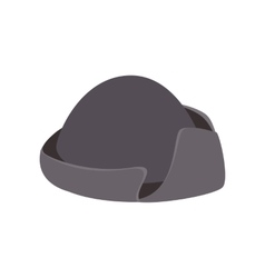 An old black hat isometric 3d icon vector image