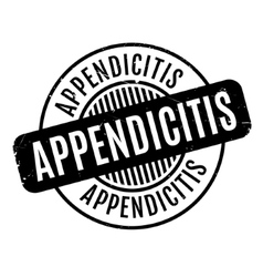 Appendicitis rubber stamp vector
