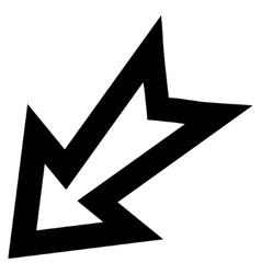 Arrow Left Down Stroke Icon vector