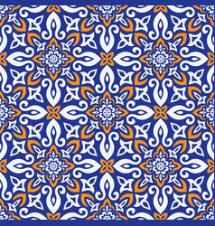 azulejos tile seamless pattern vector image