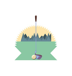 ball and stick of golf sport vector image