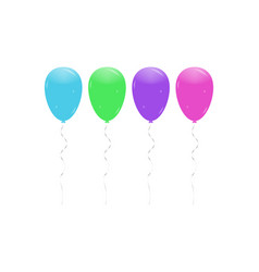 balloon set shiny colorful glossy balloons vector image