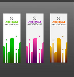 banner abstract colorful shapes vector image