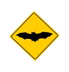 Bat warning sign vector