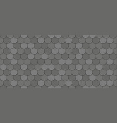 Black roof tiles vector