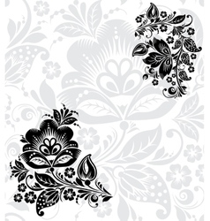 black silhouette flower vector image