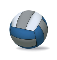 Blue and Grey Volleyball Isolated on White vector