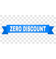 blue tape with zero discount title vector image