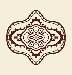 Brown Mandala Ornament vector
