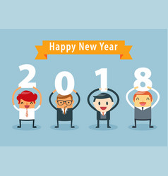 Businessman happy new year vector