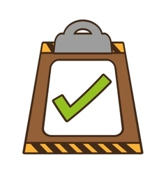 Cartoon clipboard check list delivery vector