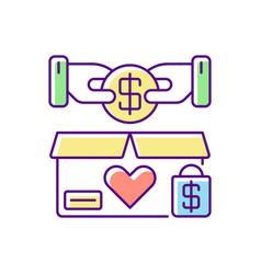 Charity shop rgb color icon vector