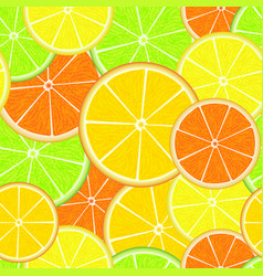 Citrus seamless pattern fresh juicy orange vector