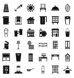 Cleaning work icons set simple style vector
