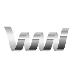Coil serpentine icon realistic style vector