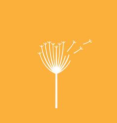 Dandelion flower logo elegant vector