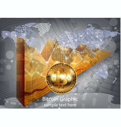 digital bitcoin cryptocurrency realistic vector image