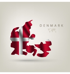 Flag of denmark as a country vector