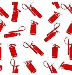 Flat Fire Extinguisher Seamless Pattern Background vector image