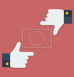 Frame of fingers or hands Flat style vector