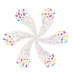 Free tag swirl flower cluster vector