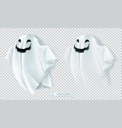 ghost with shadow and transparency happy vector image