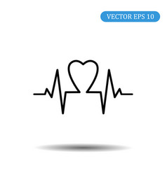 heart icon eps 10 vector image