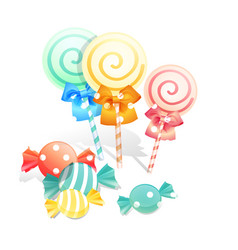 isolated candies set on white background vector image