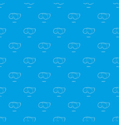 Laboratory goggles pattern seamless blue vector