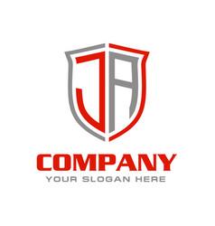 Letter ja logo design vector