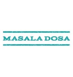 Masala Dosa Watermark Stamp vector image