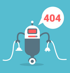 Modern robot connection error message artificial vector