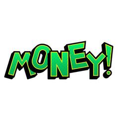 Money word comic book pop art vector