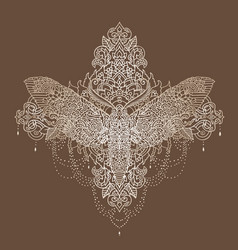 night butterfly pattern vector image