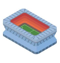 open soccer stadium icon isometric style vector image
