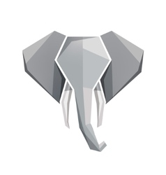 Origami elephant head icon vector