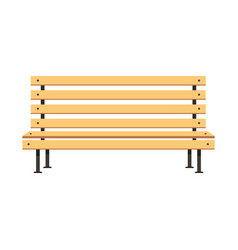 park wooden bench flat concept design vector image