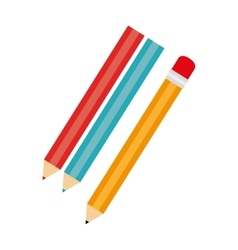 Pencil colors school isolated vector