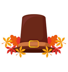 Pilgrim hat icon vector