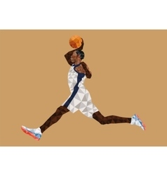 Polygonal Geometric Basketball Player vector image