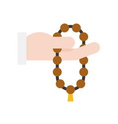 Prayer beads ramadan related flat icon vector