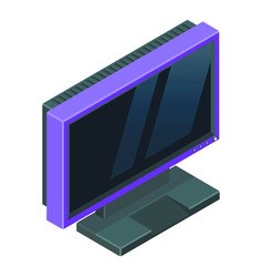 purple computer screen with reflections on it vector image