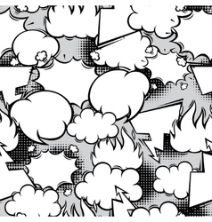 seamless pattern comic speech bubbles in vector image