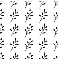 seamless pattern with branches elegant trendy vector image