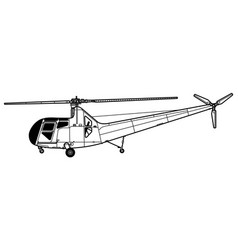 Sikorsky r-6 hoverfly 2 vector