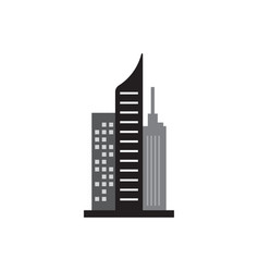 skyscraper building icon design template isolated vector image
