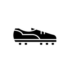 soccer boot icon black sign vector image
