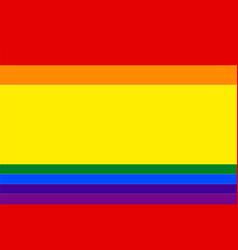 Spanish gay flag or lgbt vector